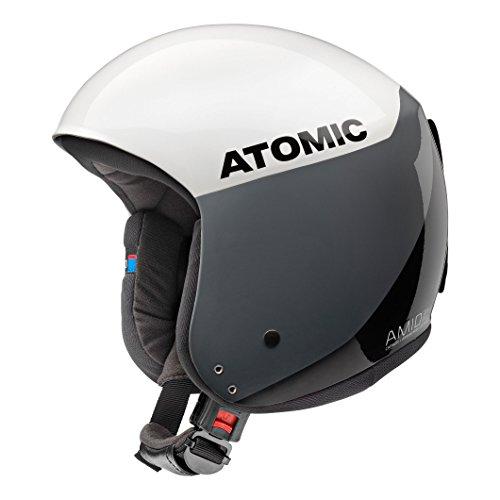 Atomic, Casco da sci da gara, Da uomo/donna, Conforme alle norme di sicurezza, Tecnologia AMID, Norme FIS, Redster WC AMID, Taglia XL, Circonferenza della testa 59,5-60,5 cm, Bianco/Nero, AN5005428XL