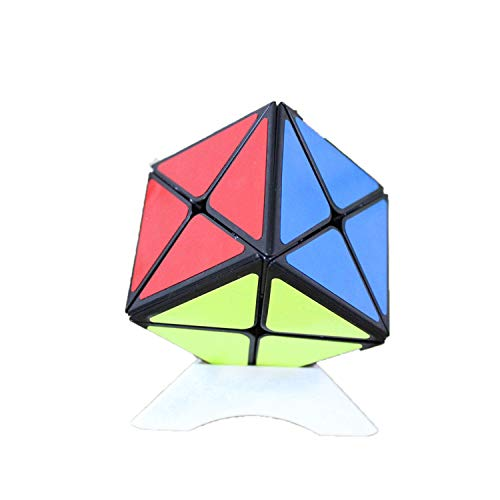 FunnyGoo Cubo de Shengshou Dino Cubo de Velocidad de Eje Negro Shengshou Legend 8, con un Soporte de Cubo (Negro)