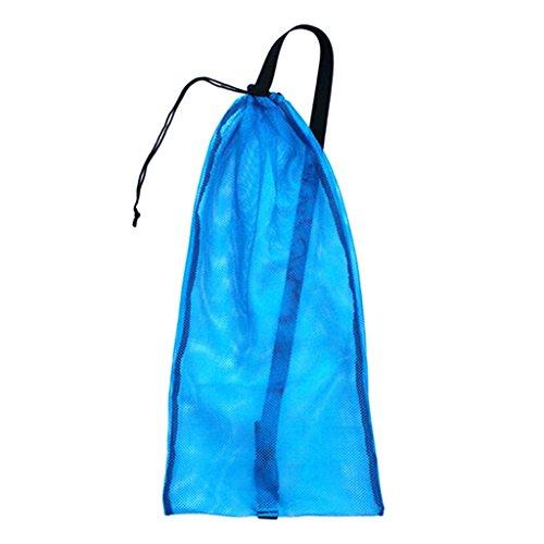 Homyl Unisex Netzbeutel Netztasche Mesh Sporttasche für Tauchen Schnorcheln Schwimmen - Blau