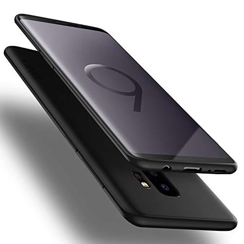 X-level Samsung Galaxy S9 Plus Hülle, [Guardian Serie] Soft Flex TPU Hülle Superdünn Handyhülle Silikon Bumper Cover Schutz Tasche Schale Schutzhülle für Samsung Galaxy S9 Plus 6,2 Zoll - Schwarz