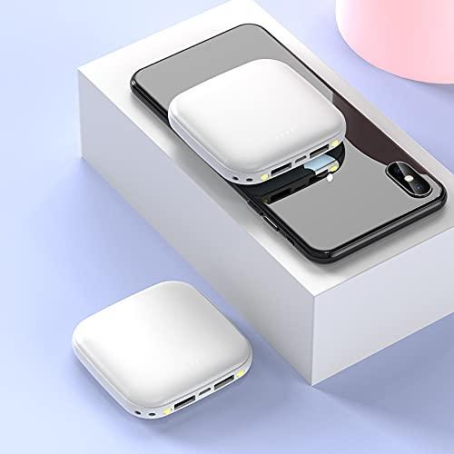 GLNuoke Banco de energía 10000 mAh Cargador portátil Mini Powerbank para iPhone 11 X XR Xiaomi Mi 9 8 Huawei P30 Poverbank Batería externa (color blanco)