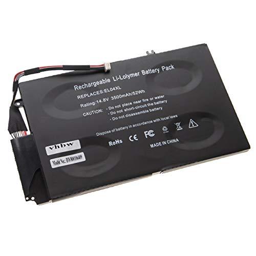vhbw Batterie Compatible avec HP Envy 4-1000, 4-1004TX, 4-1005TX, 4-1007TX, 4-1008TX, 4-1024TX Laptop (3500mAh, 14,8V, Li-polymère)