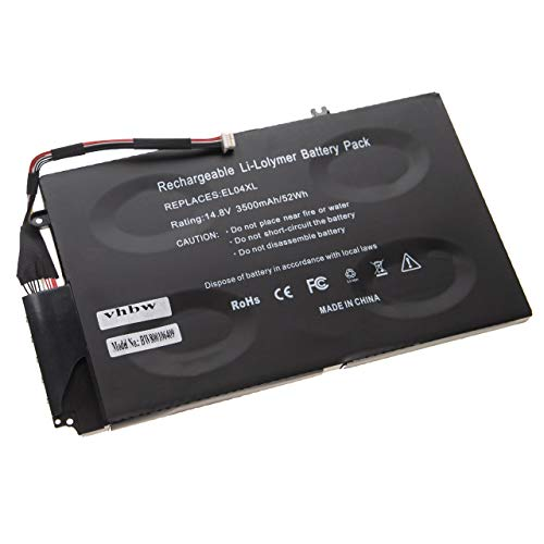 vhbw Batería Compatible con HP Envy TouchSmart 4-1015tu, 4-1015tx, 4-1018tu, 4-1020tu, 4-1021tu Notebook (3500mAh 14,8V polímero de Litio)