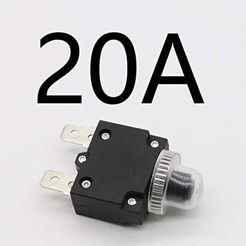 interruptor térmico protector de sobrecarga botón pulsador 3A,4A,5A,6A,7A,7.5A,8A,10A,15A,18A,20A,25A,30A disyuntor+cubierta impermeable