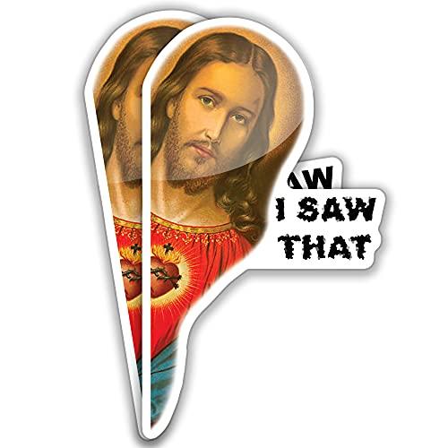 Jesus I Saw That Sticker or I Saw That Jesus Sticker (Two Pack) Funny car Decals Jesus car Sticker...