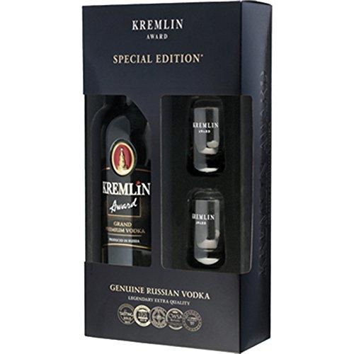 Kremlin Award Vodka in GIftbox + 2 glasses 70cl