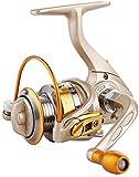GJJSZ Moulinets Moulinets de pêche pour Eau de mer Eau Douce Eau Douce Mini Or Rapid Sea Reel (Couleur: Or, Taille: 150)