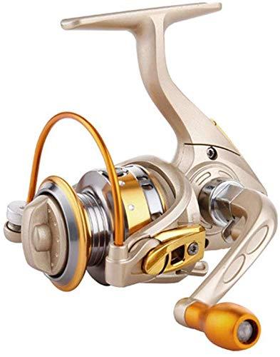 GJJSZ Carretes de Pesca para Agua Salada y Agua Dulce, Mini Carrete de Pesca de mar rápido Dorado (Color: Dorado, tamaño: 150), Dorado, 150