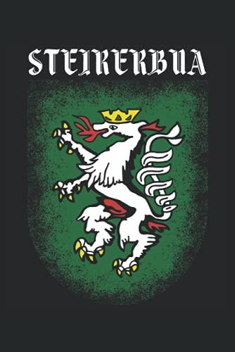 STEIRERBUA: Notizbuch   liniert   120 Seiten   A5 Format (15.24cm x 22.86 cm)  Notizbuch Notizheft Notiz-Block  Steiermark Notizbuch