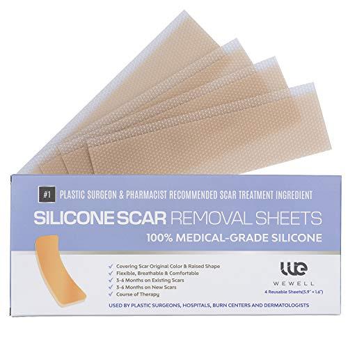 Narbenpflaster mit Silikon zur Behandlung von Narben, Effektiv gegen Narbenbildung durch Akne, chirurgischen Eingriffen, Kaiserschnitt oder Verbrennungen