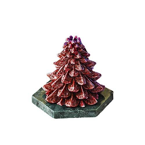 Chirsemey Duftkerzen Weihnachtsbaumform Pflanze Eiswachskerze Geschenk Rauchlose Aromatherapiekerzen Tuberose & Engelsgras, Sandelholz, Eiche & Haselnuss