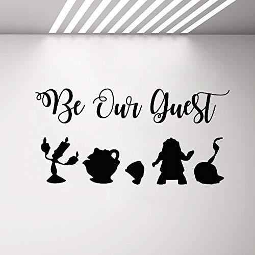 Yaonuli Be Our Guest muursticker voor kantoor, muursticker voor koffie, vinyl, keuken