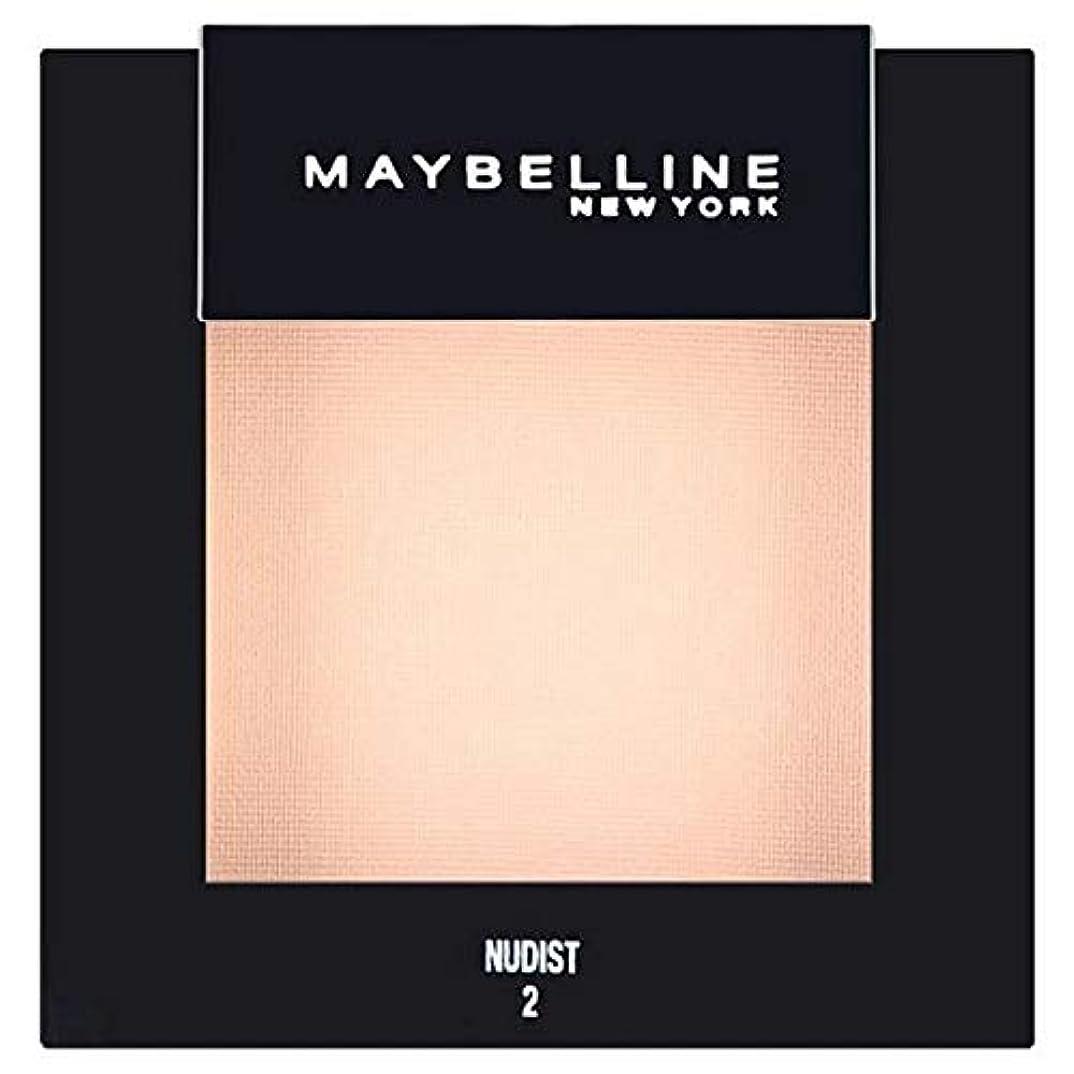 思い出すネーピアリーガン[Maybelline ] メイベリンカラーショーシングルアイシャドウ02ヌーディスト - Maybelline Color Show Single Eyeshadow 02 Nudist [並行輸入品]