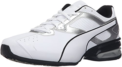 PUMA Men's Tazon 6 FM Puma White/ Puma Silver Running Shoe -...