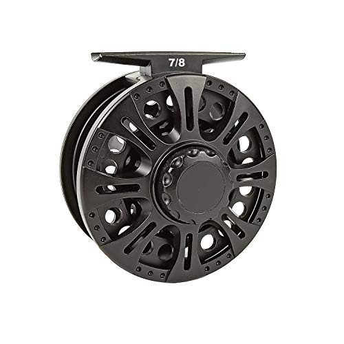 Aventik Z Fly Reel Center Drag System Classic III Graphite Large Arbor Sizes 3/4, 5/6, 7/8 Fly Fishing Reels (7/8)