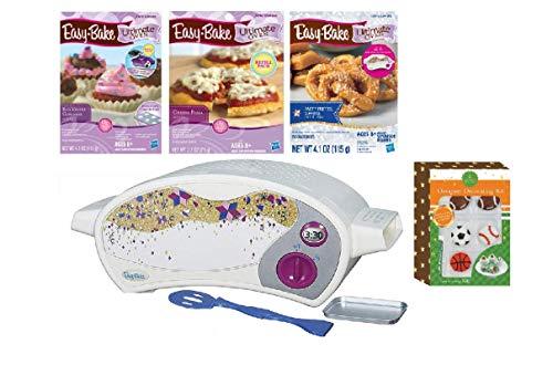 Easy Bake Oven Easy Bake Ultimate Oven Baking Bundle Baking Star Edition + Larger Size 13.8 Oz. Easy Bake 3-Pack Refill Mixes (Pizza, Pretzel and Red Velvet Cup Cakes) + Designer decorating kit