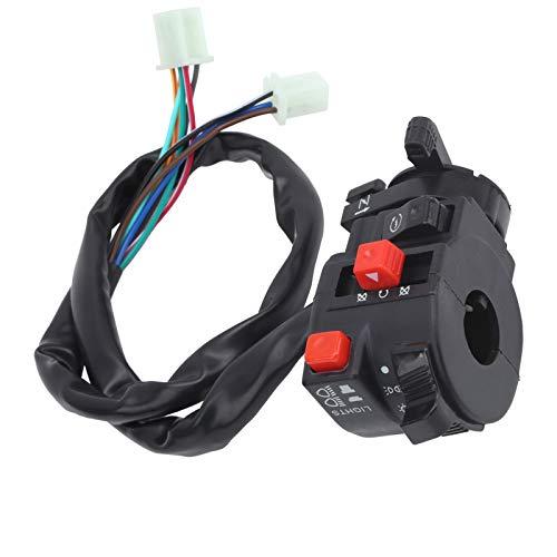 Interruptor de encendido del manillar de 7/8 pulgadas, botón de estrangulador de arranque automático para 200cc 250cc 300cc ATV chino
