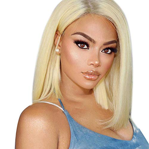 Beauhair 613 Blonde Human Hair Wigs For Women With Baby Hair Straight Glueless Lace Front Wigs Silky Natural Hairline Brazilian Virgin Human Hair Glueless Lace Wig (12inch, 613 13x4 Lace Wig)