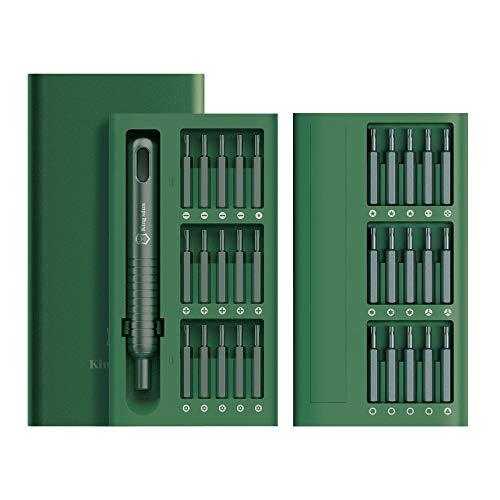 E·Durable mini destornilladores precision 31in1 Reparar el teléfono, Reloj, cámara para Regalo del Fiesta, Navidad color verde