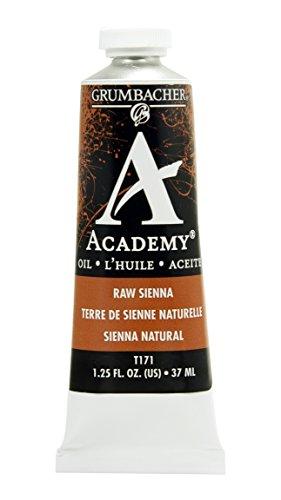 Grumbacher Academy Oil Paint, 37 ml/1.25 oz, Raw Sienna