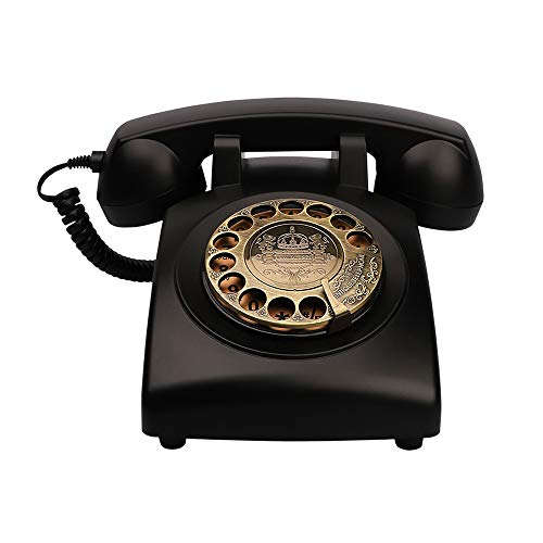 TelPal Antique Phones Corded Landline Telephone Vintage Classic Rotary Dial Home Phone of 1930s Old Fashion Business Phones Home Office Decor Landlines
