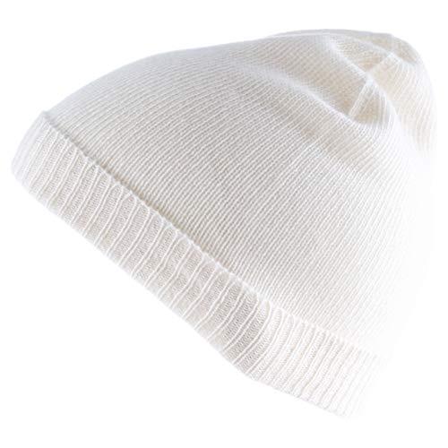 Really Nice Cashmere Eco kasjmier muts - Fold Beanie Unisex - wintermuts 100% wol