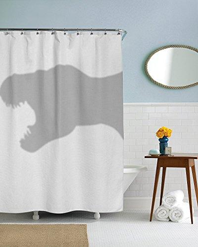 DREAMOO Duschvorhang, lustige Dinosaurier-Trex Duschvorhänge, Standard, Textil, Multi, 60x72