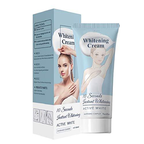 Bosixty 10 Seconds Whitening Cream - Crème Blanchissante pour les Aisselles - Crème éclaircissante Efficace pour la Peau - Parfait pour le Bikini et les Zones Sensibles