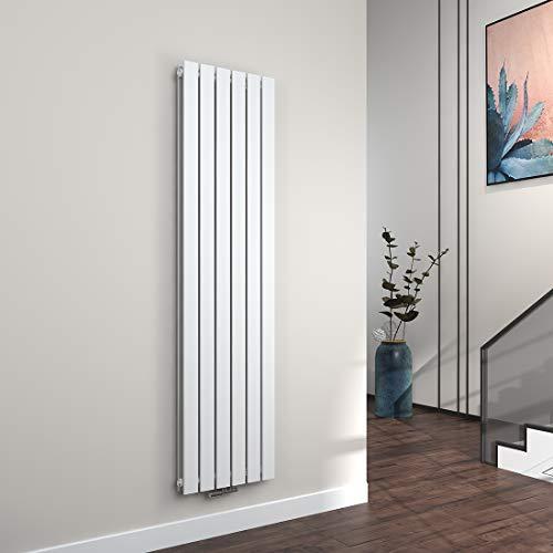 EMKE Vertikal Heizkörper Design Paneelheizkörper 1800x460mm Weiß flach Doppellagig Mittelanschluss Heizung 1733W