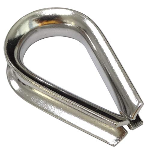 Aerzetix kabelschoenen, hart, gesp voor kabels Ø 6 mm, staal, A4, C43574