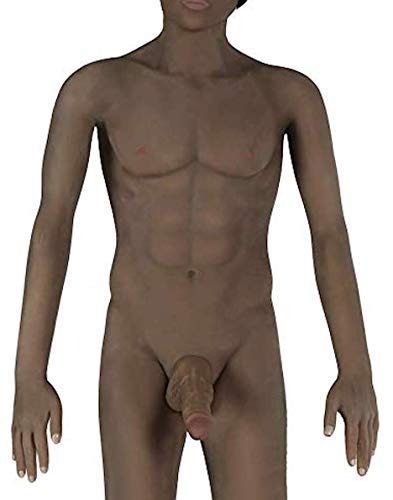 Black Male Body Realistic 3D Love Doll with Tight Torso Entry (Tall 5.2 Ft Lifesize)