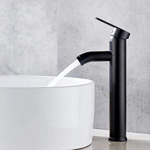 Grifo de baño, grifo retro negro de plataforma alta, lavabo del baño es antioxidante, antidesgaste, adecuado para grifos con un diámetro interior de 32 mm a 42 mm
