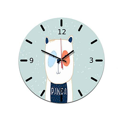 LUOYLYM Nordic Dekorative Uhr Wanduhr Acryl Uhr Dekorative Uhr Stummschaltung Spiegel Uhr Wohnzimmer Wanduhr Ctt-25 28CM