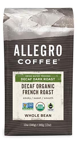 Allegro Coffee Decaf Organic French Roast Whole Bean Coffee, 12 oz