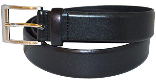 Hugo Boss - 50129169 - Ceinture en cuir pour homme - Noir - Taille 40 / 105 EU