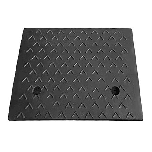 Rubber Curb Ramp,5.3inch Heavy Duty Rubber Curb Ramp for Loading Dock Bike Driveway Vehicles,1PCS - 19.68 x16.14 x 5.3in H …
