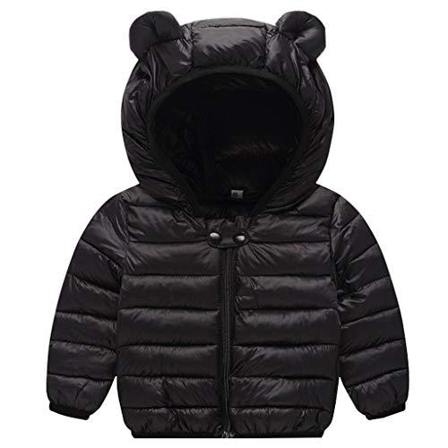 JiAmy Bebé Chaqueta Invierno Abrigo con Capucha Ligero Trajes Ropa de Calle Acolchado