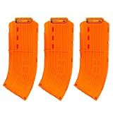 EKIND 10 Darts Banana Curved Clips, Soft Bullet Quick Reload Clips Compatible for Nerf Elite Magazine Toy Gun (Orange, Pack of 3)