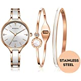 MAMONA Women's Watch Quartz Gift Set Crystal...