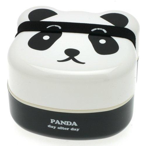 Kotobuki 2-Tiered Bento Box, Panda Face