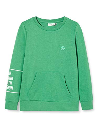 NAME IT Jungen NKMRAP LS SWEAT UNB Sweatshirt, Grün (Leprechaun), 146-152
