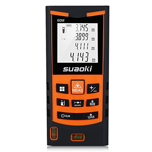 SUAOKI S9 60m Telémetro láser, Medidor láser Metro láser de ±1.5mm...