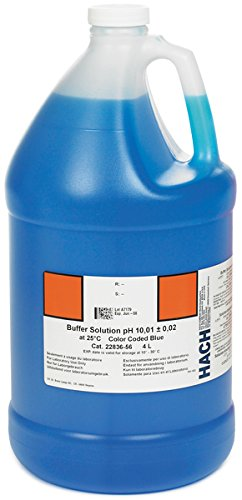 Hach 2283656 Buffer Solution, pH 10.01 (NIST), color-coded blue, 4L