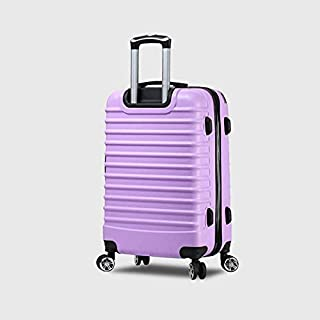 Asdfnfa Universal Wheel Trolley Suitcase Password Suitcase (Color : Purple)