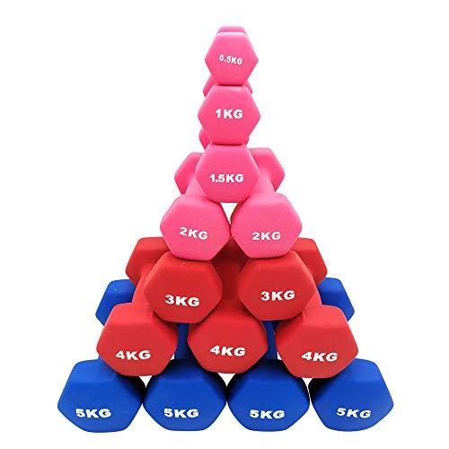 TOP FILM ダンベル 2個セット1kg 2kg 3kg 4kg 5kg 8kg 10kg ダンベルセット ソフトコーティング 筋力トレーニング 筋トレ 鉄アレイ (0.5)