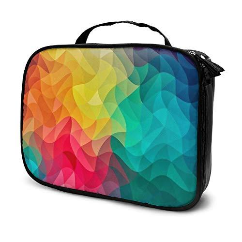 Sac à cosmétiques couleur abstraite sac de rangement portable multifonction sac fourre-tout adapté pour le sport, la salle de sport, le yoga, la plage, la baignade