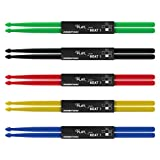 5 Pairs 5A Nylon Drum Sticks for Drummer Playing, Non-slip Durable Plastic Drumsticks