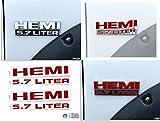 Reflective Concepts HEMI 5.7 Liter Emblem Overlay Decal - 2015 2016 2017 Ram Rebel - (Color: Gloss Red)