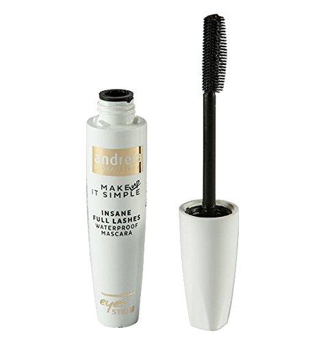 Waterdichte zwarte mascara van Andreia |Krankzinnige volle wimpers |Scheiden, verlengen en krullen - 10 ml