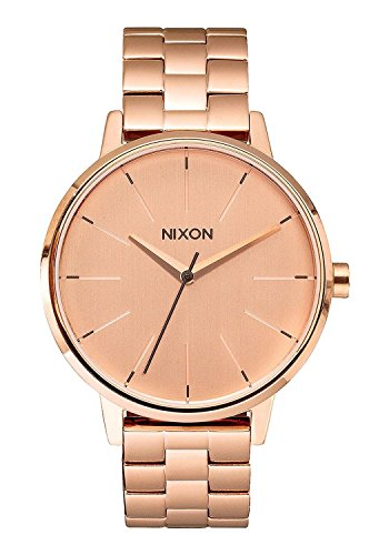 Nixon Damen Analog Quarz Uhr mit Edelstahl beschichtet Armband A099897-00